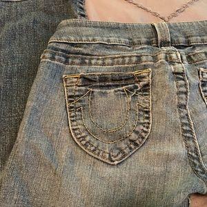 True Religion low rise boot cut jeans